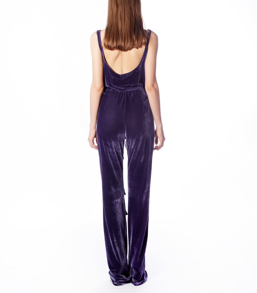 JOIE Jumpsuit (Purple Velvet)