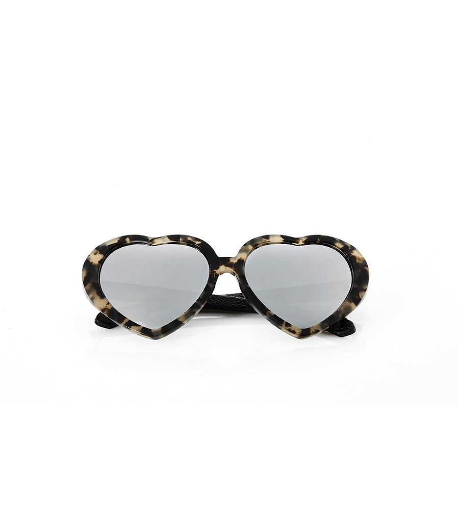 EYE HEART YOU Sunnies (Silver/Black)