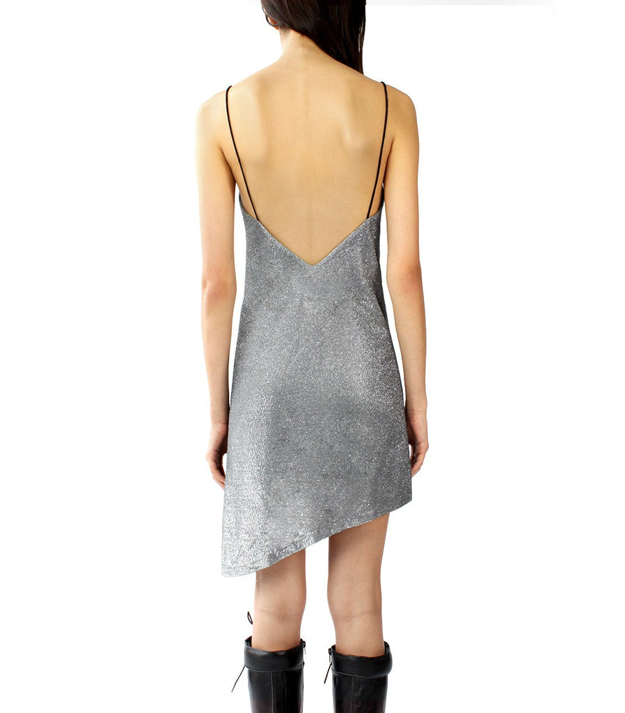 GLITZ Slip Dress (Silver Grey)