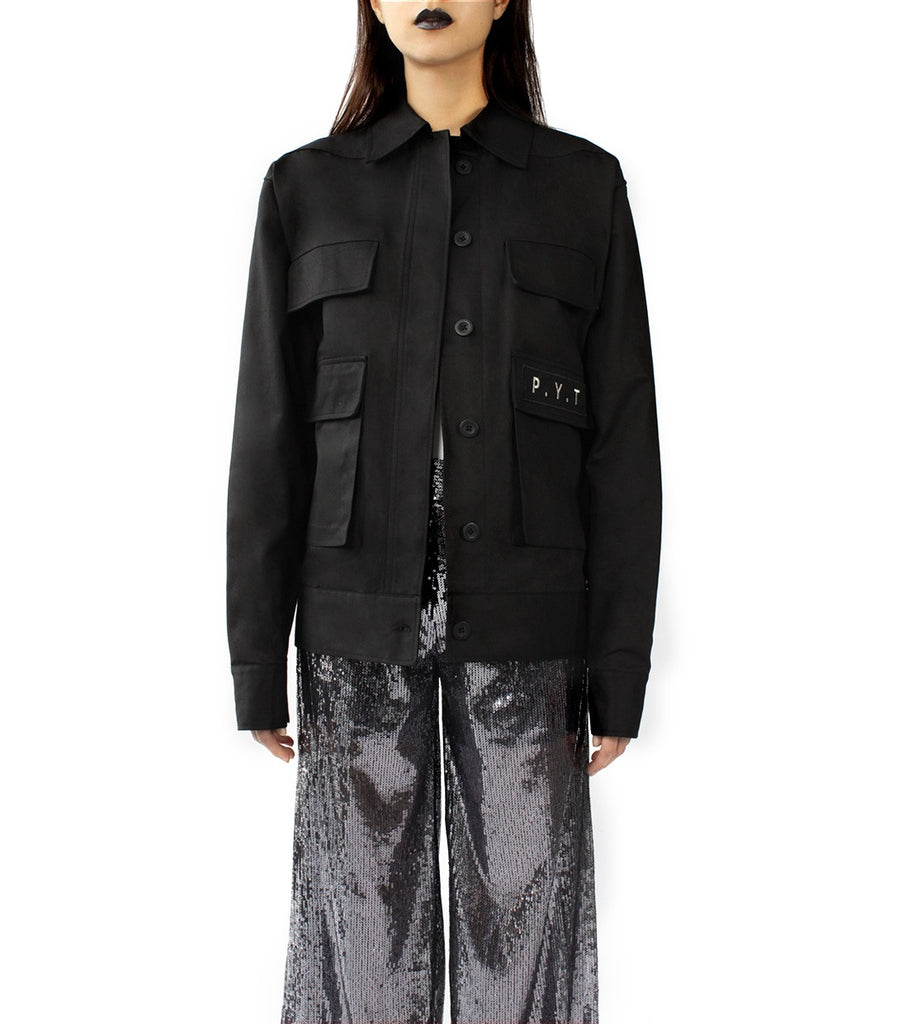 P.Y.T Oversized Army Jacket (Black)