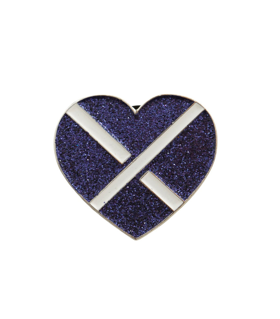 CROSS MY HEART Signature Logo Pin (Purple)