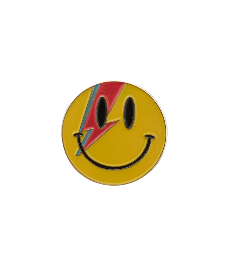 ALADDIN SANE Smiley Face Pin