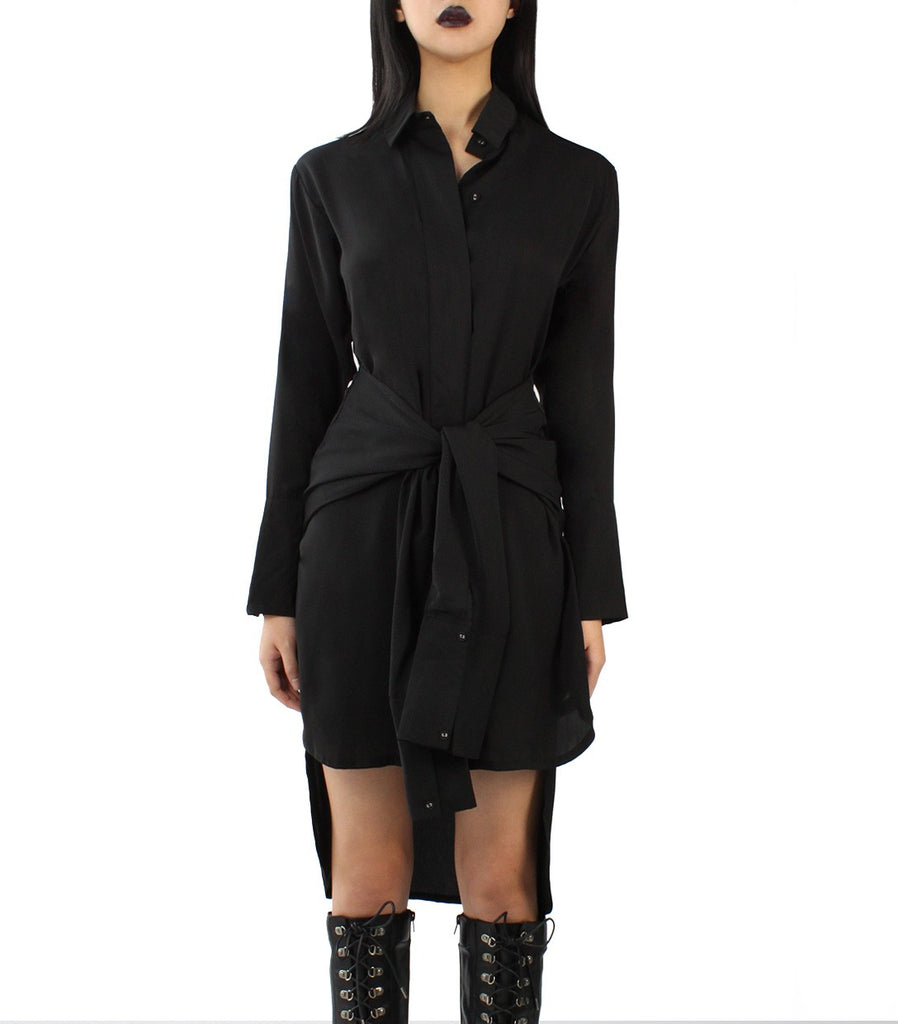 KATE Shirt Dress (Black)