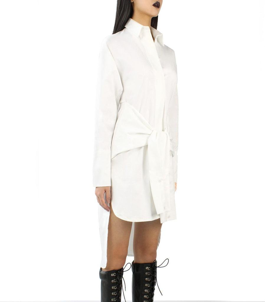 KATE Shirt Dress (White)