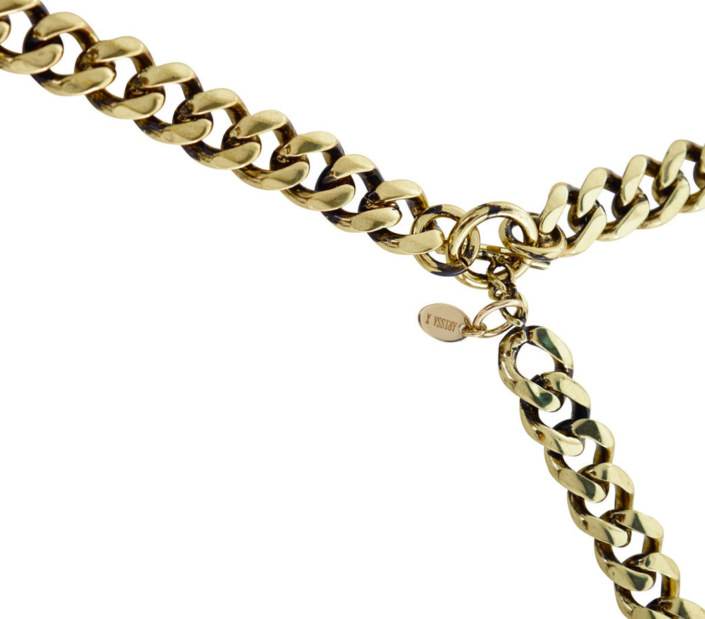 CHAIN MY SOUL Long Chain Necklace (Gold)