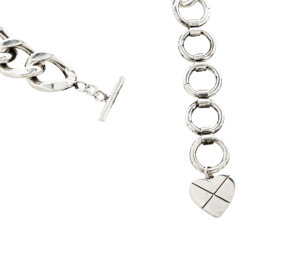 CROSS MY HEART Signature Choker (Silver)