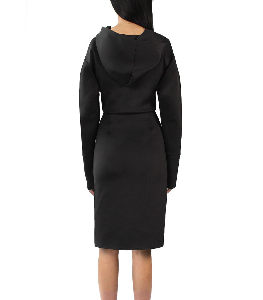 FRANKIE Hoodie Dress (Black)