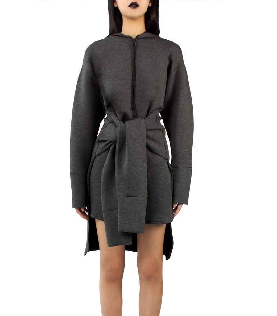 FRANKIE Hoodie Dress (Grey)