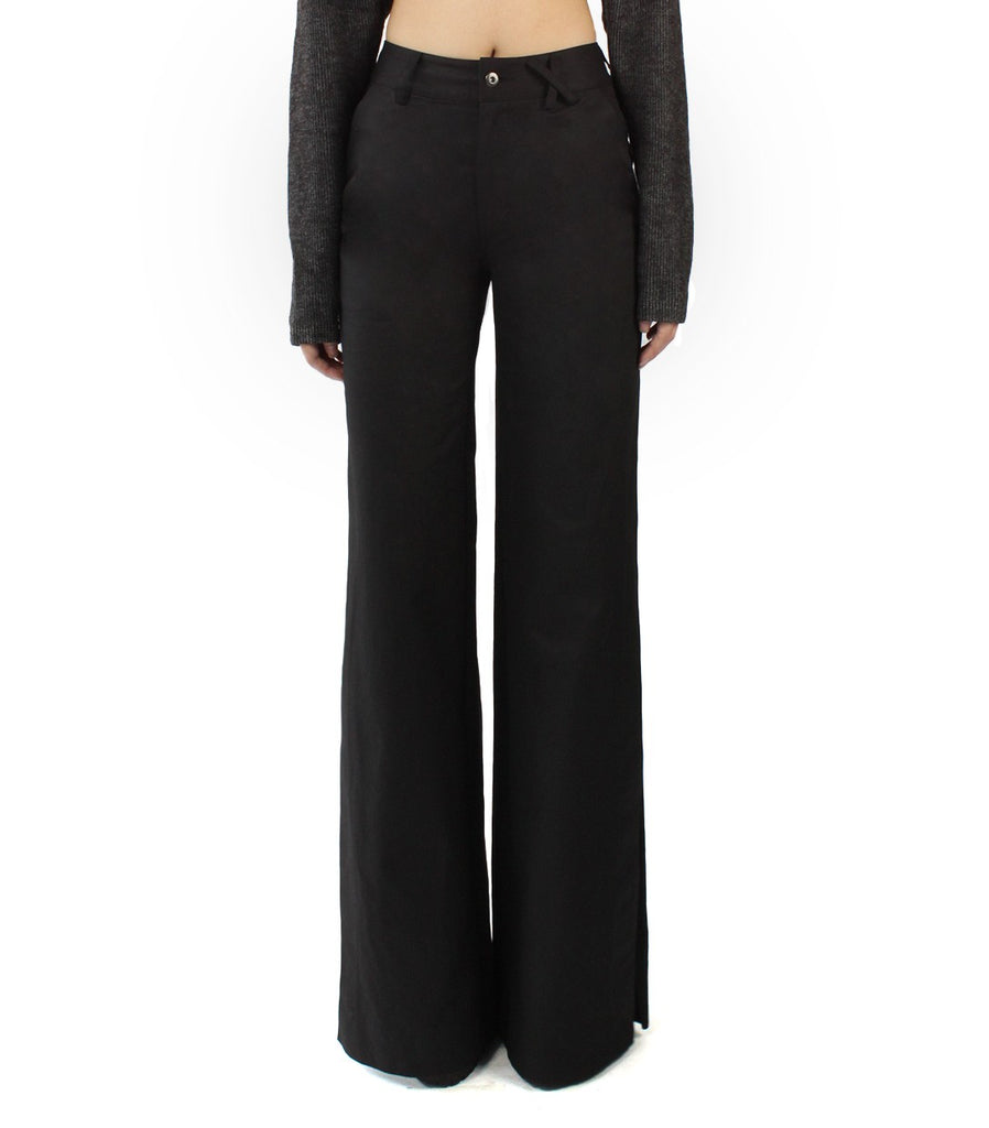 EDIE Slit Pants (Black)