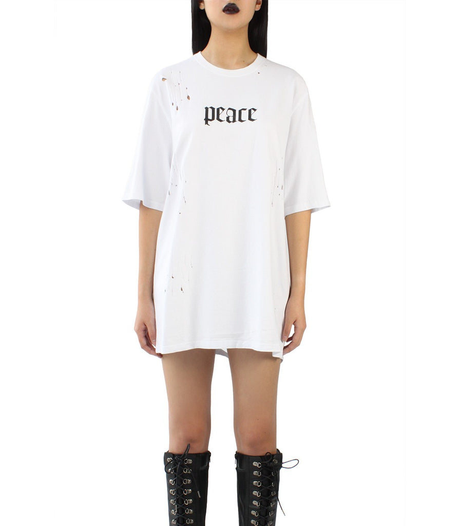 PEACE Distressed Tee