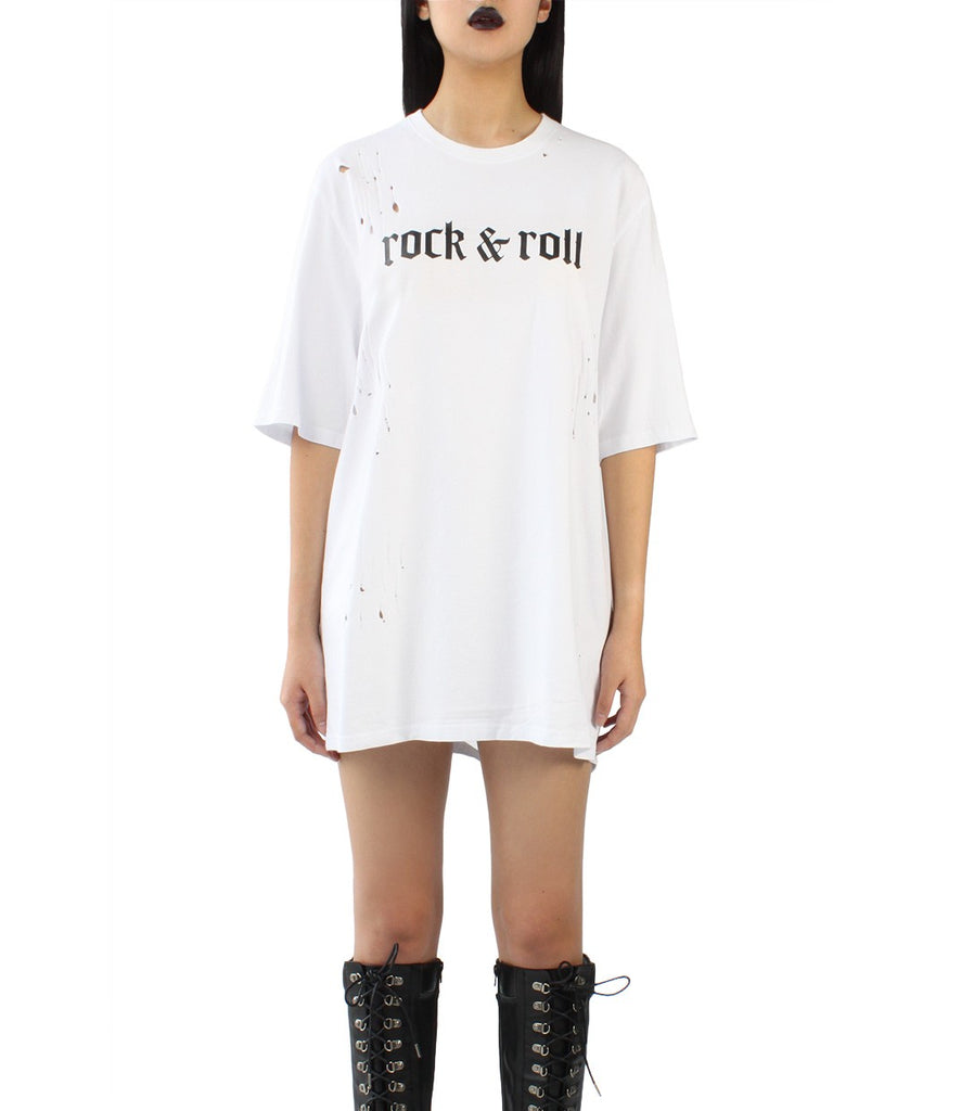ROCK&ROLL Distressed Tee
