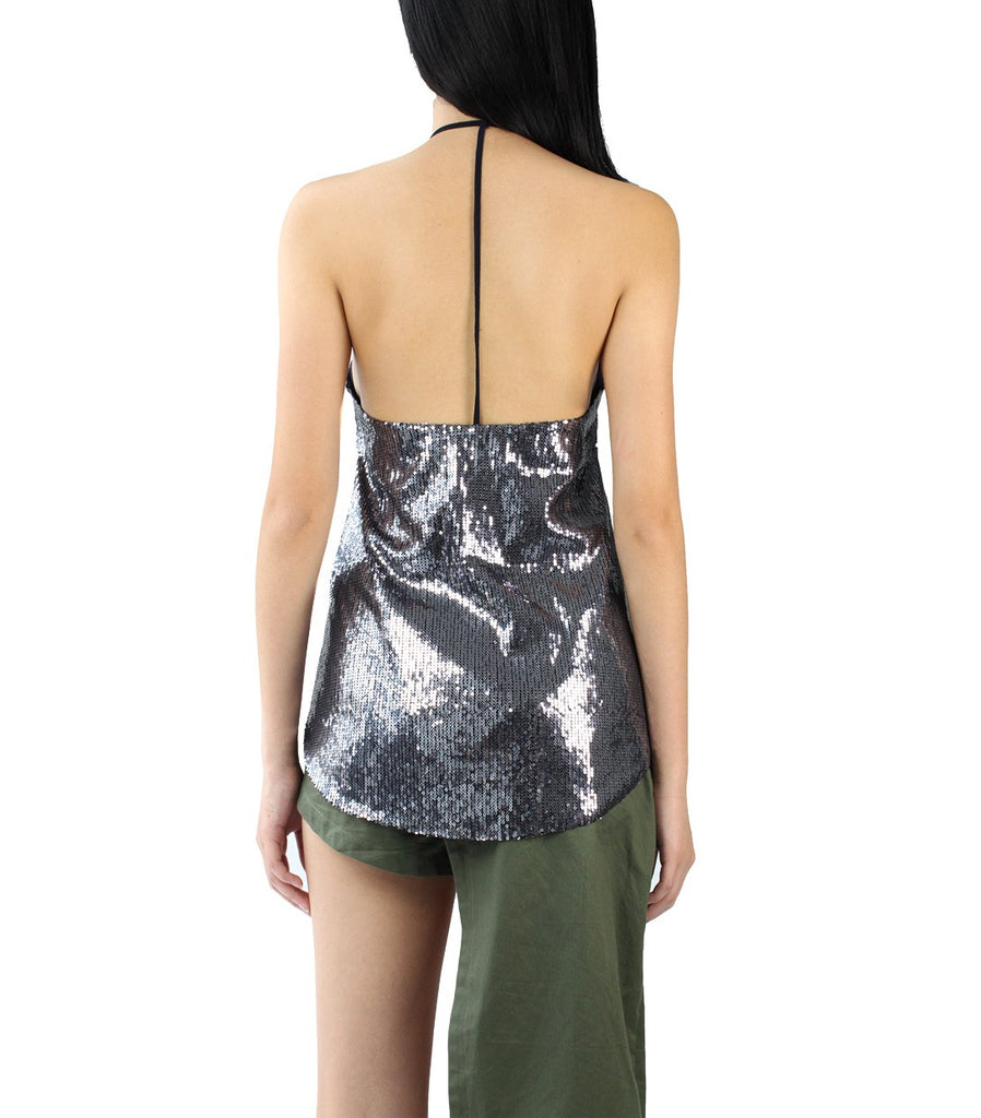 GLITZ Sequinned Camisole (Navy)