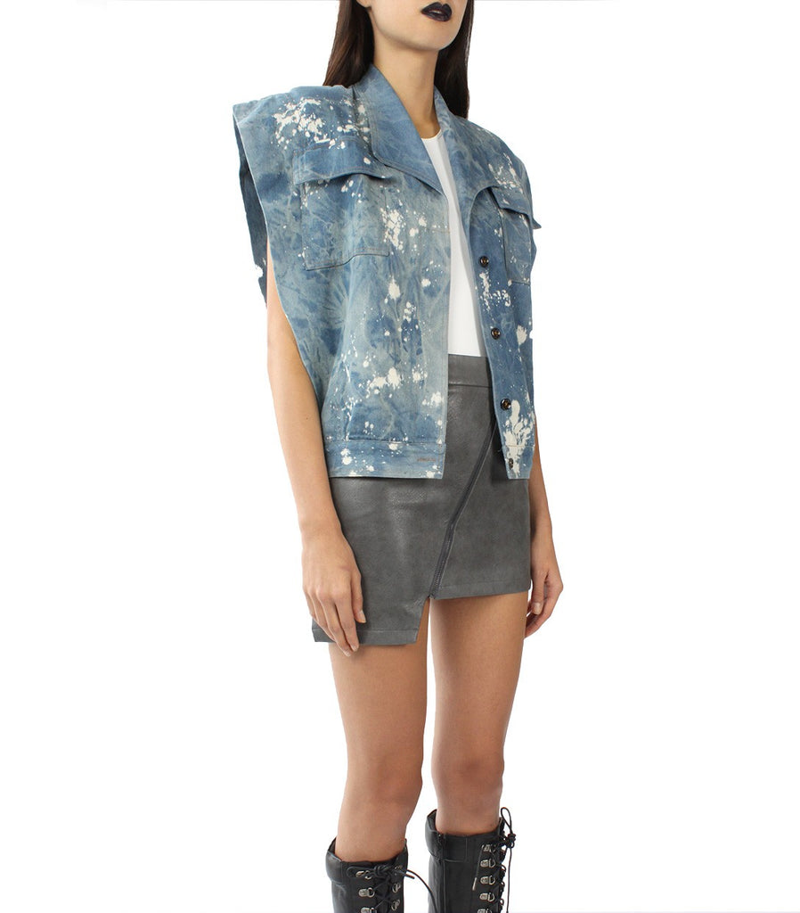 JETT Splattered Denim Vest