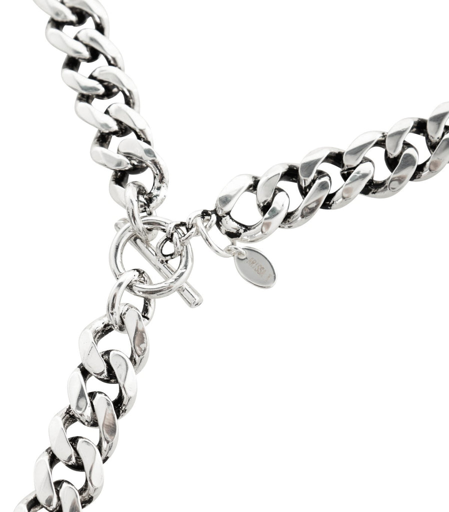 CHAIN MY SOUL Long Chain Necklace (Silver)
