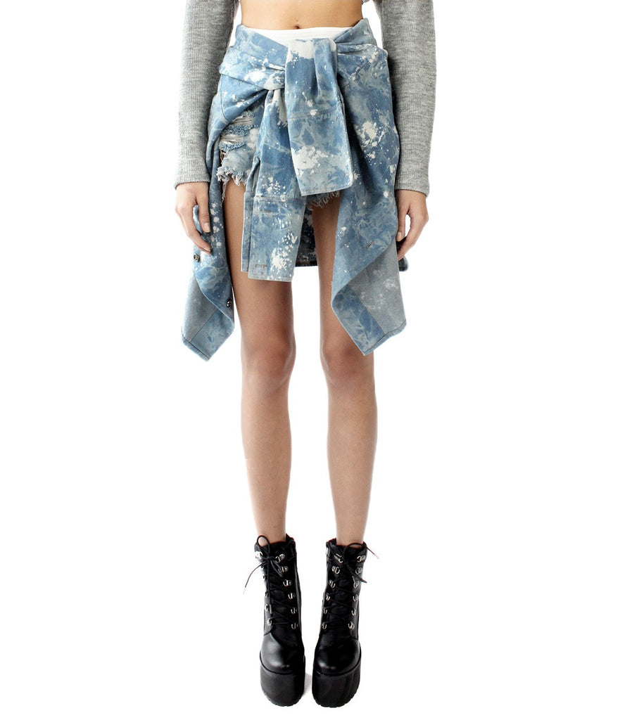 JETT Denim Tie- Shorts