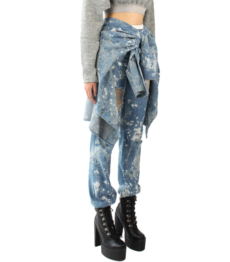 JETT Splattered Denim Tie - Pants