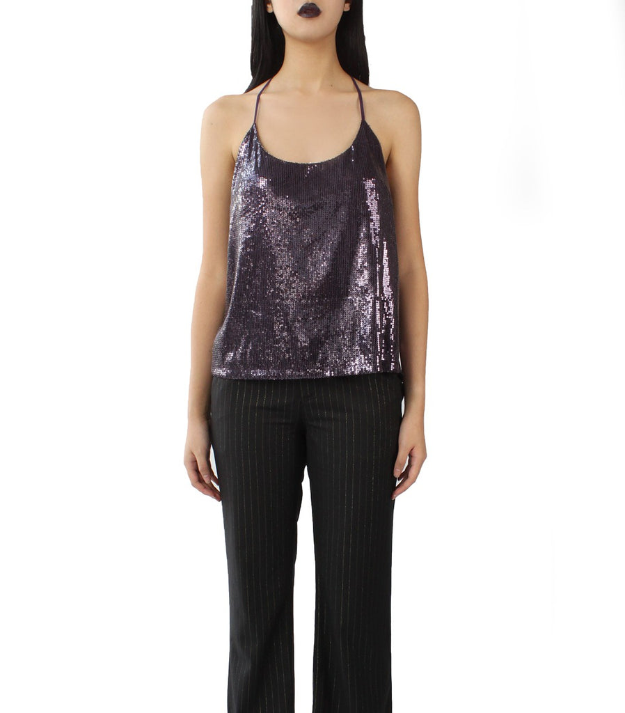 GLITZ Sequinned Camisole (Purple)
