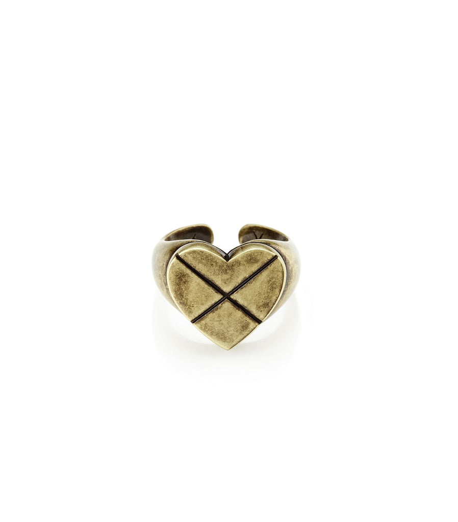 CROSS MY HEART Signature Ring (Gold)