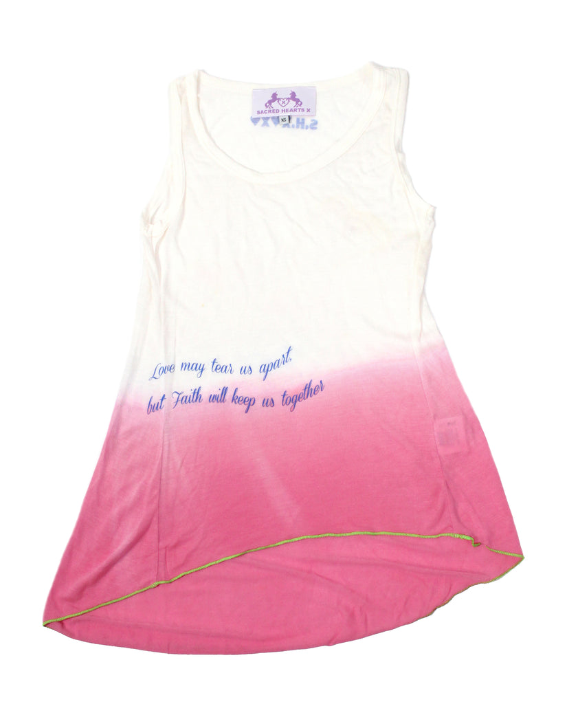 S.H.X GRADIENT BUBBLEGUM PINK RELAXED TANK