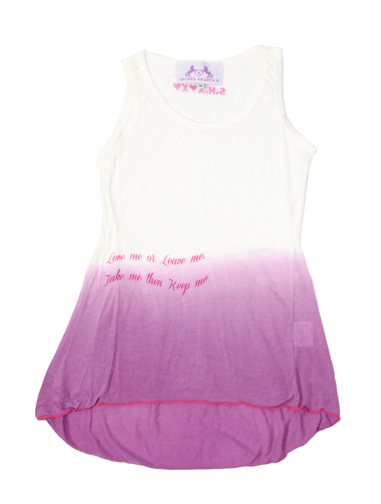 S.H.X GRADIENT LILAC RELAXED TANK