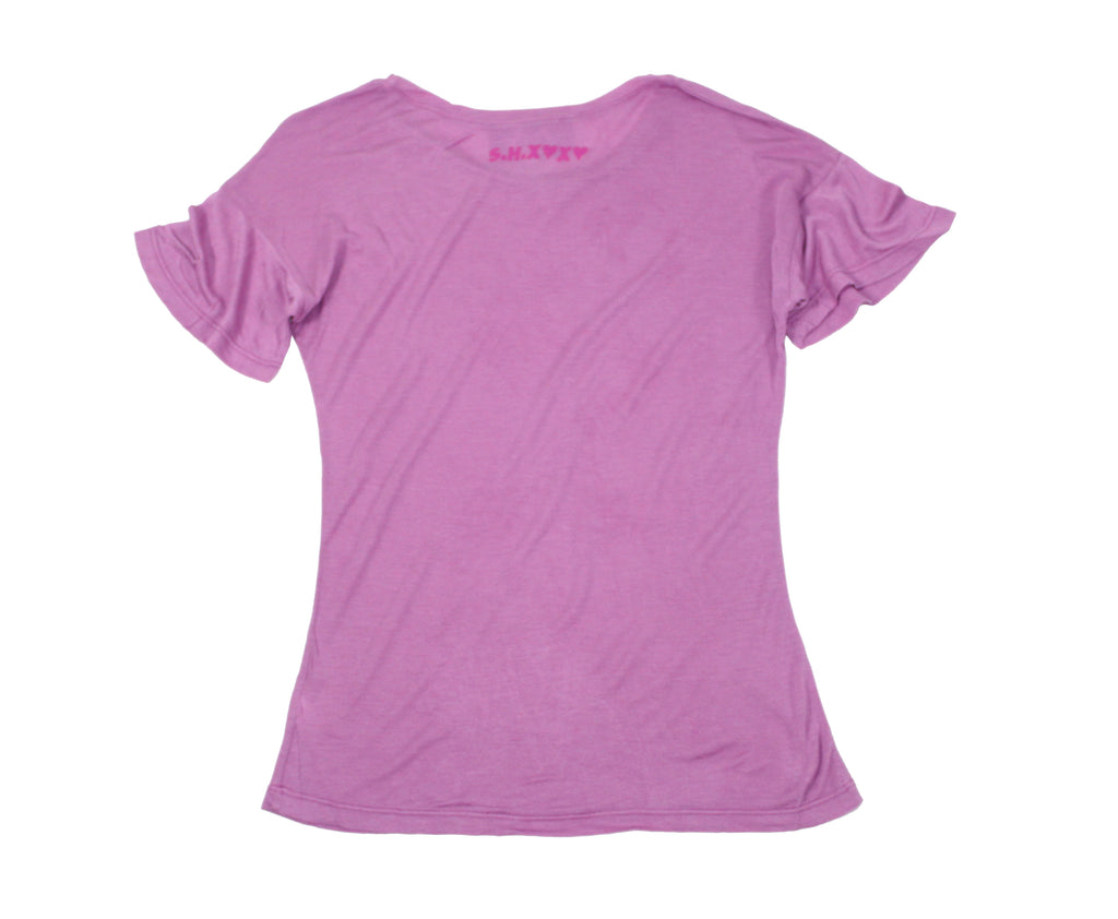 S.H.X LILAC STRETCHY TEE