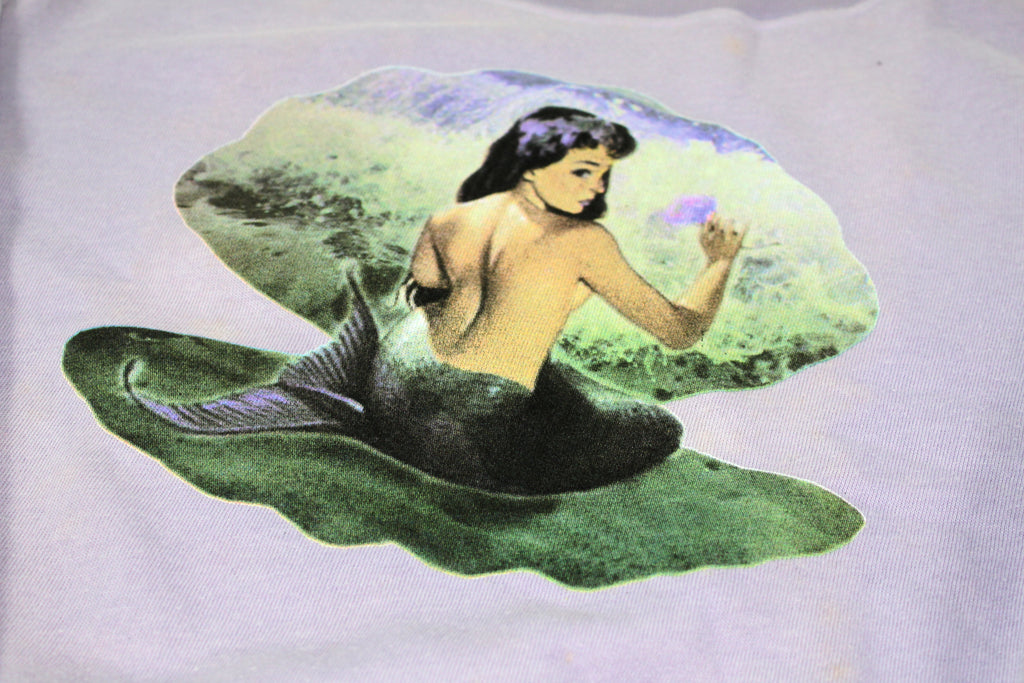 S.H.X PURPLE GRAPHIC MERMAID SWEATER