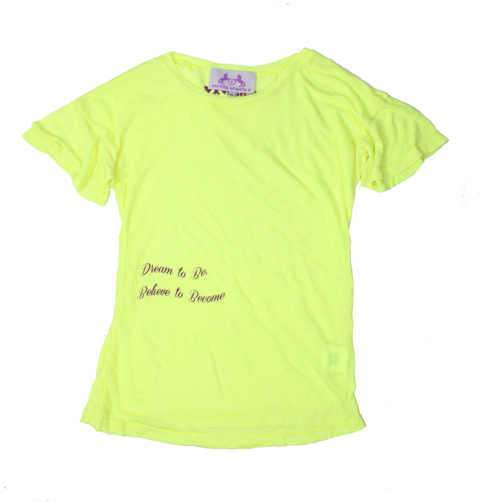 S.H.X NEON YELLOW STRETCHY TEE