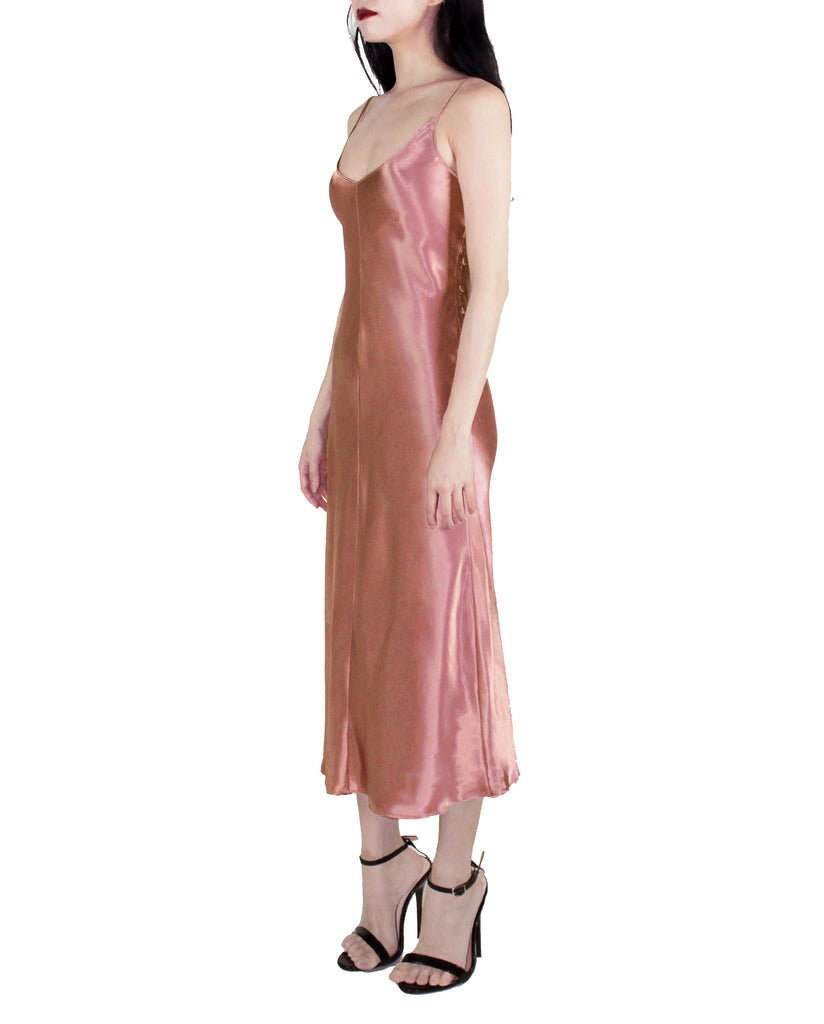 PEACH BEACH SATIN SLIP DRESS