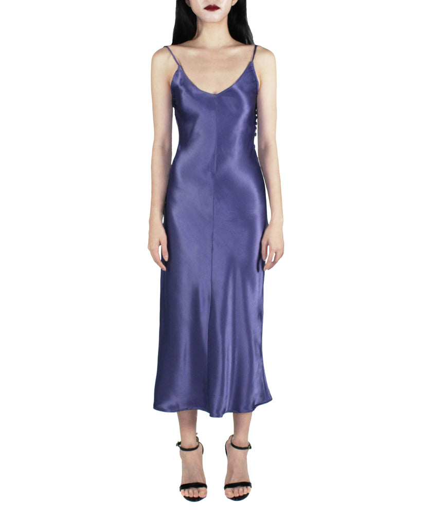 AMETHYST DREAM SATIN SLIP DRESS