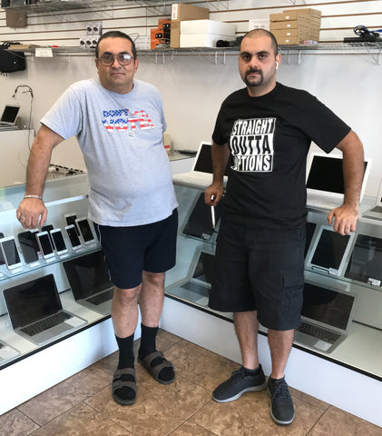 Vahn and Peter Amiryan, owners of Vahn's Computers, North Hollywood, Ca