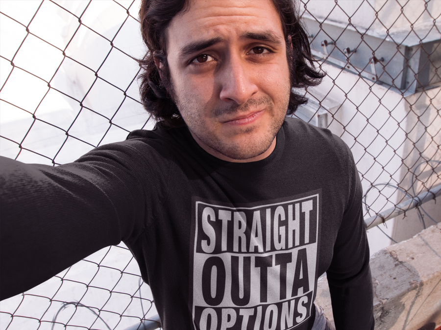 STRAIGHT OUTTA OPTIONS Funny political Election 2020 long sleeve T-Shirt - Aggrovist Apparel