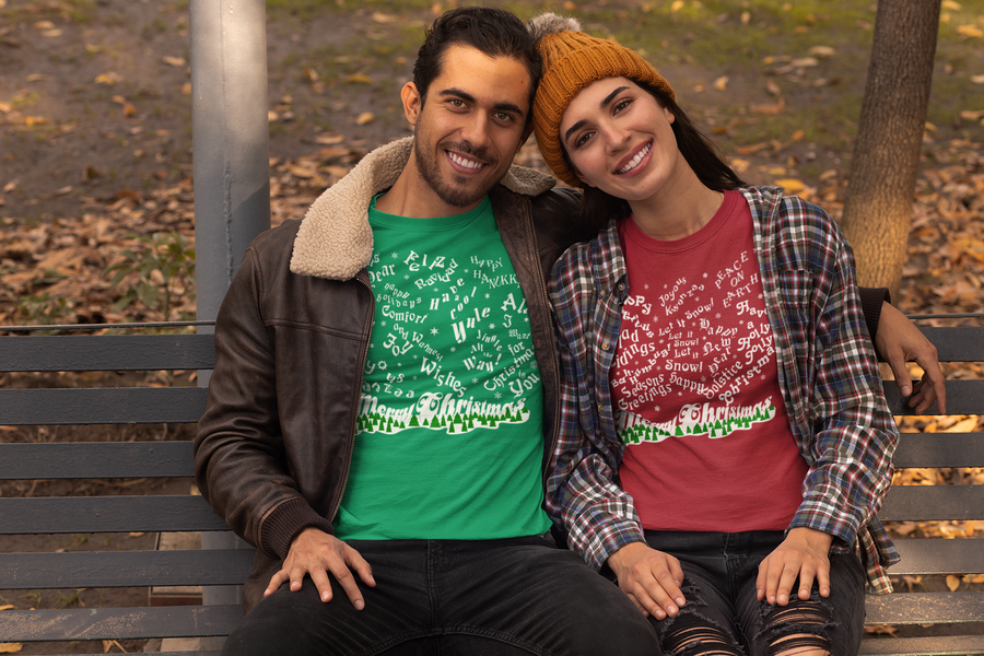 Merry Christmas Snowfall in Even More Seasons Greetings! Red Unisex T-Shirt