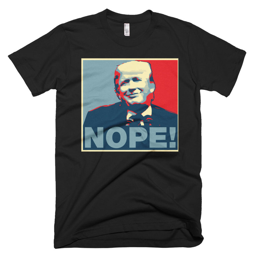 NOPE! Shepard Fairey HOPE parody anti-Trump T-Shirt - Aggrovist Apparel