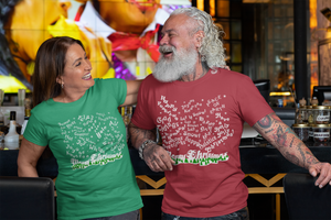 Merry Christmas Snowfall in all the Seasons Greetings! Green Unisex T-Shirt