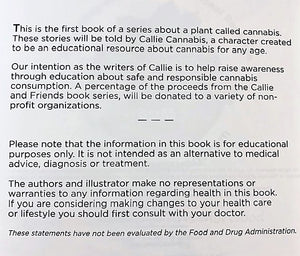 """Callie Cannabis"" Book"