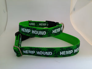 """Hemp Hound"" Dog Collar"