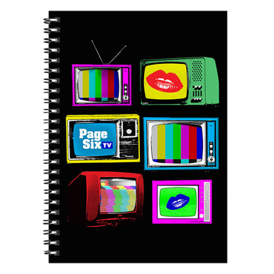 Page Six TV Vintage TVs Black Notebook