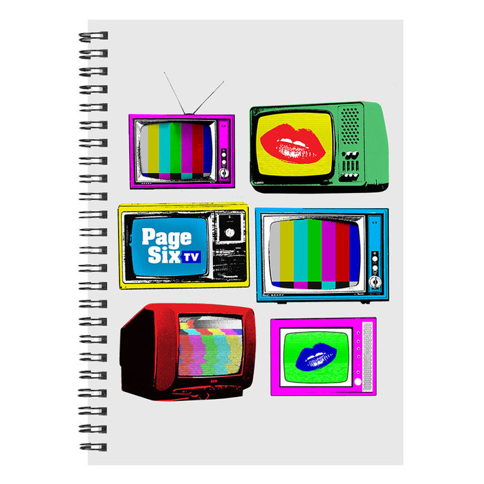 Page Six TV Vintage TVs White Notebook