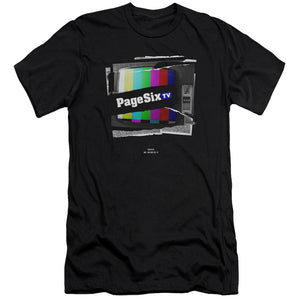 Page Six TV Ripped Color Logo Black T-Shirt