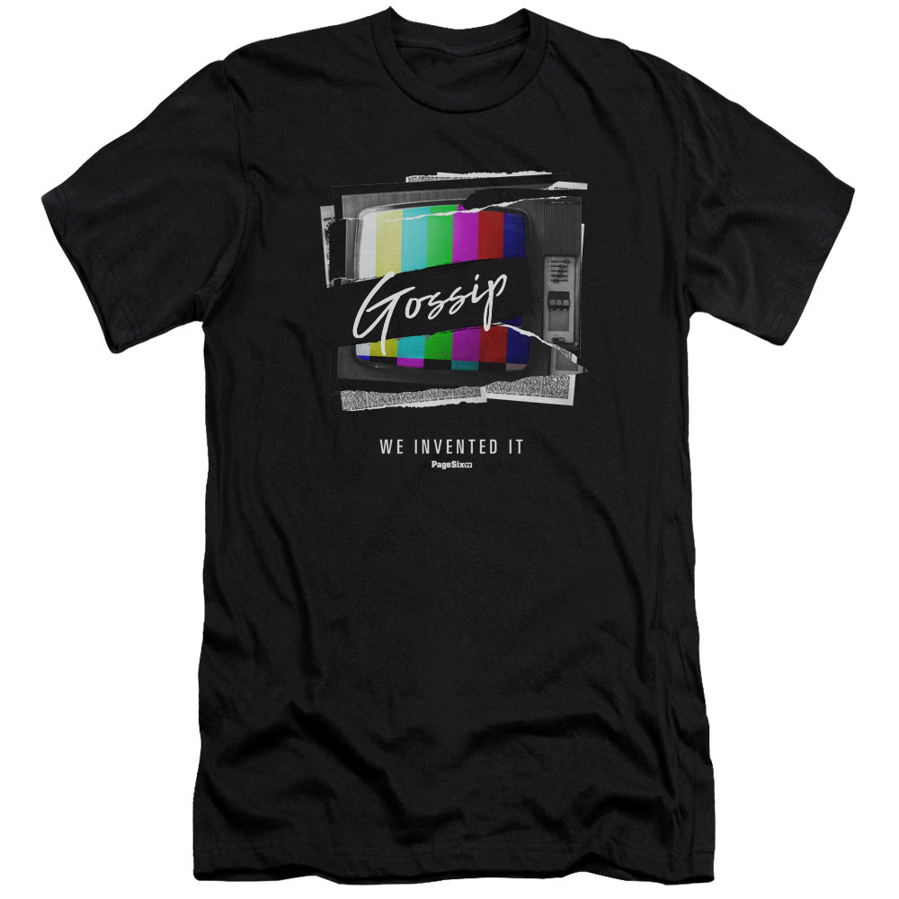 Page Six TV Ripped Color Gossip Black T-Shirt