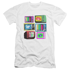 Page Six TV Stacked Televisions White T-Shirt