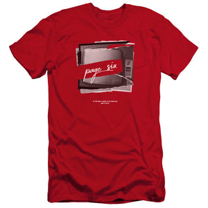 Page Six TV Ripped Color Page Six Red T-Shirt