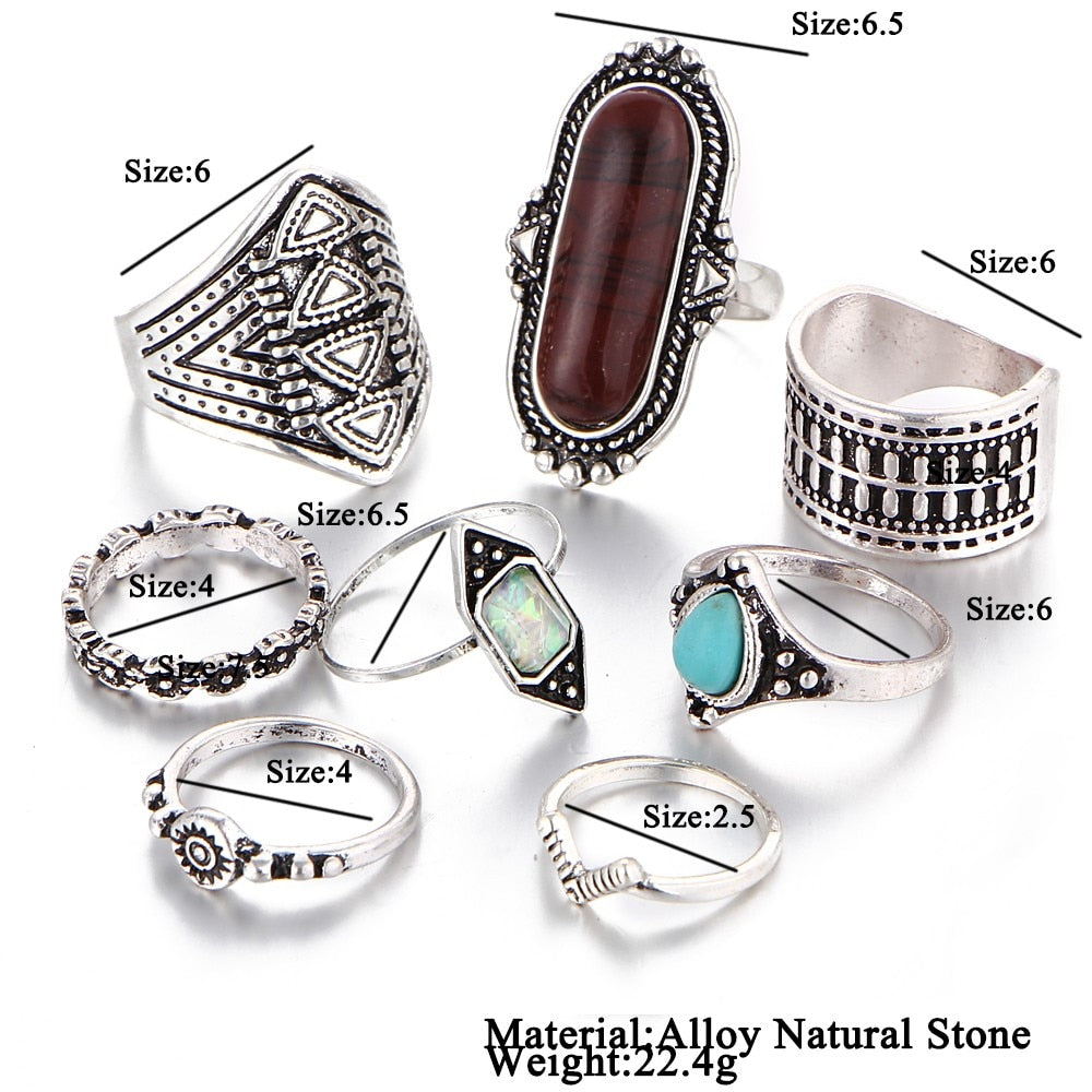 Dream Bohemian Knuckle Ring Set