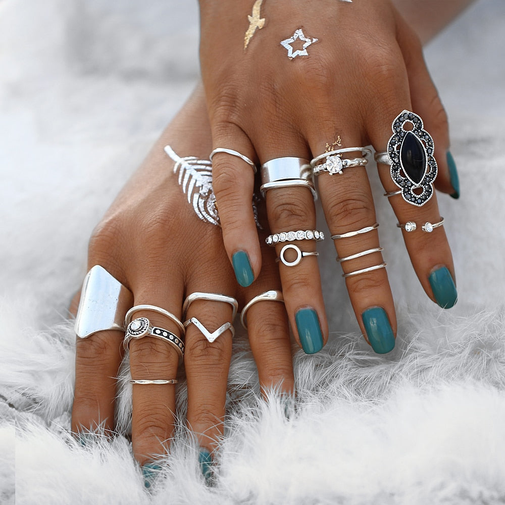 Ophelia Boho Knuckle Ring Set