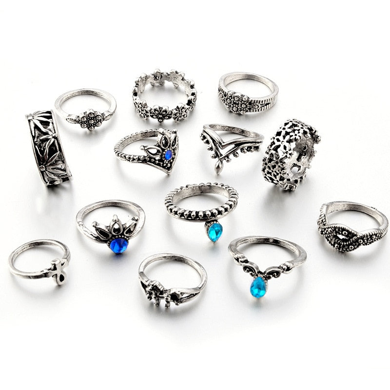 Boho 13pcs Knuckle Rings Set