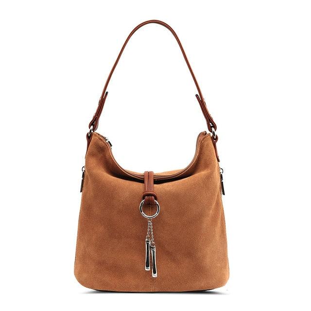 Josie Boho Split Leather Shoulder Bag