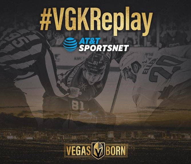 "AT&T Sportsnet Announce ""VGK Replay"" Television Schedule"