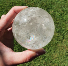 Clear Quartz Crystal Sphere with Rainbows from Brazil