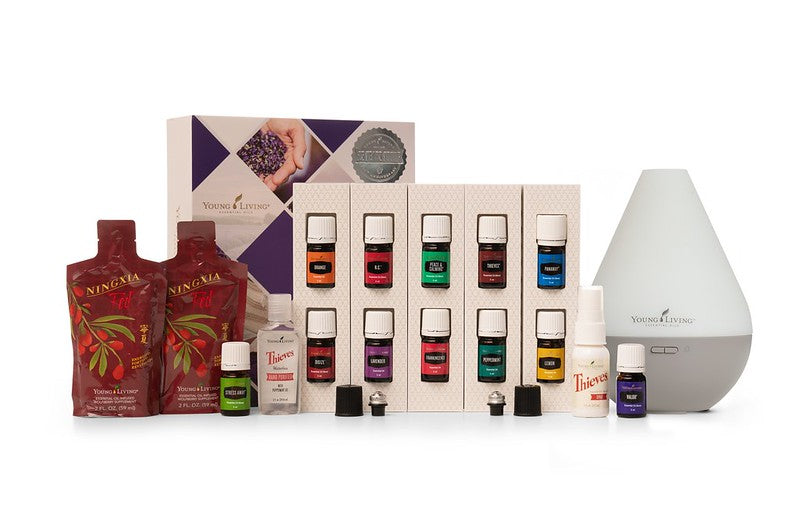 Essential Oils Premium Starter Kit - Dew Drop Diffuser