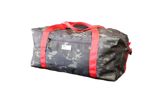 Multicam Black Duffel Bag Red Handle - Wilde Custom Gear